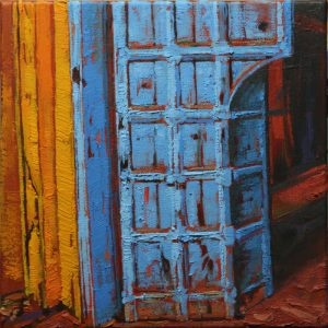 Ginger Palace, Fort Cochin - 30x30cm oil-encaustic SOLD