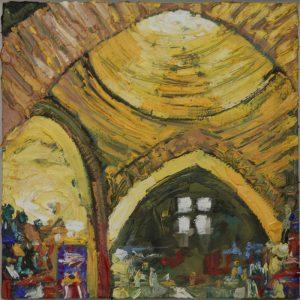 Grand bazaar, Istanbul - 25x25cm oil-encaustic SOLD