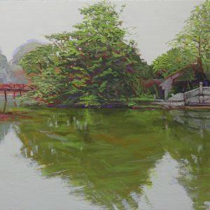 Hanoi dawn - 120x50cm oil-encaustic AVAILABLE