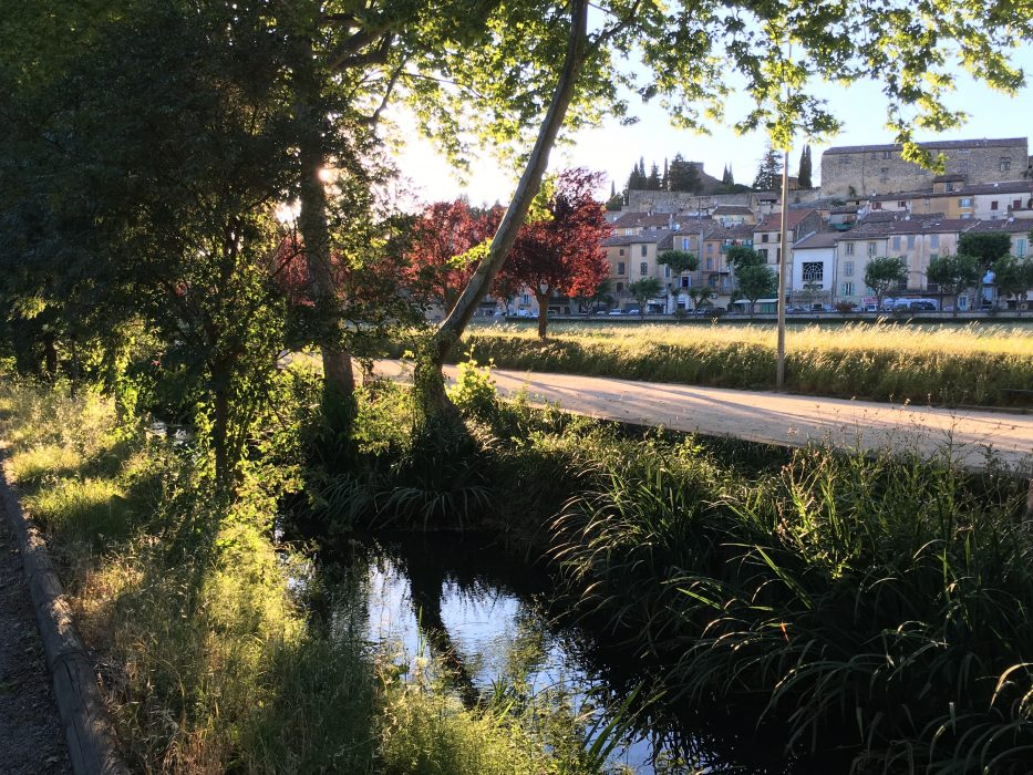 Looking from the river, over the Grand Prés, to the main boulevard of Jouques