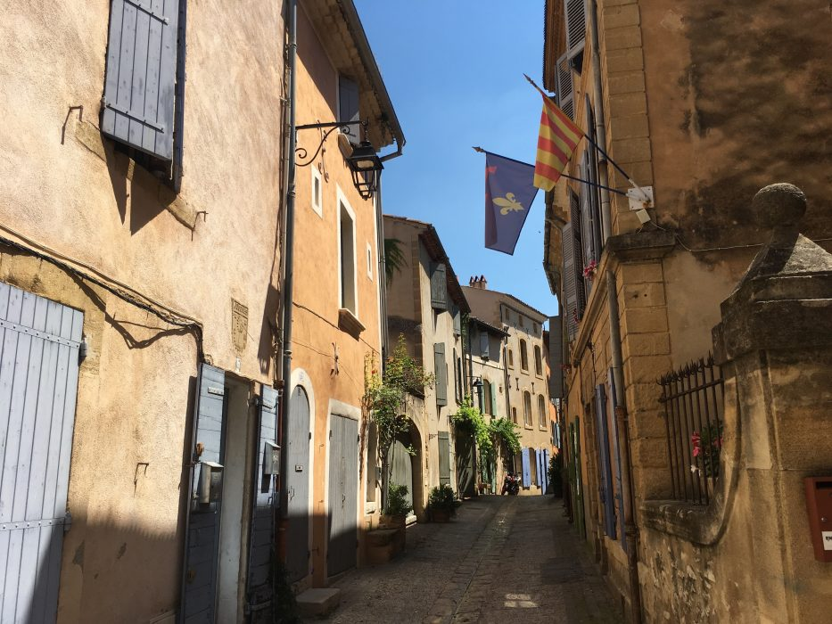 Part of rue Grande, near the Museum, in the old village of Jouques