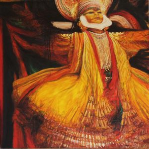 Kathakali - 120x120cm oil-encaustic SOLD
