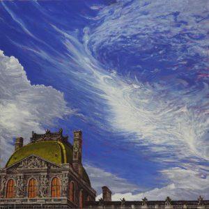 Le ciel est mon témoin, Paris - 105x105cm oil-encaustic SOLD