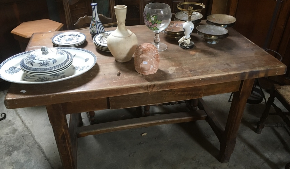 Table and bric a brac